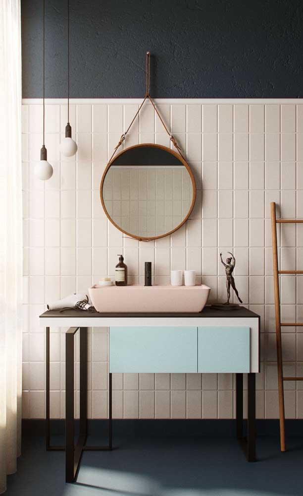A cuba para banheiro deve combinar com o restante da decoração.