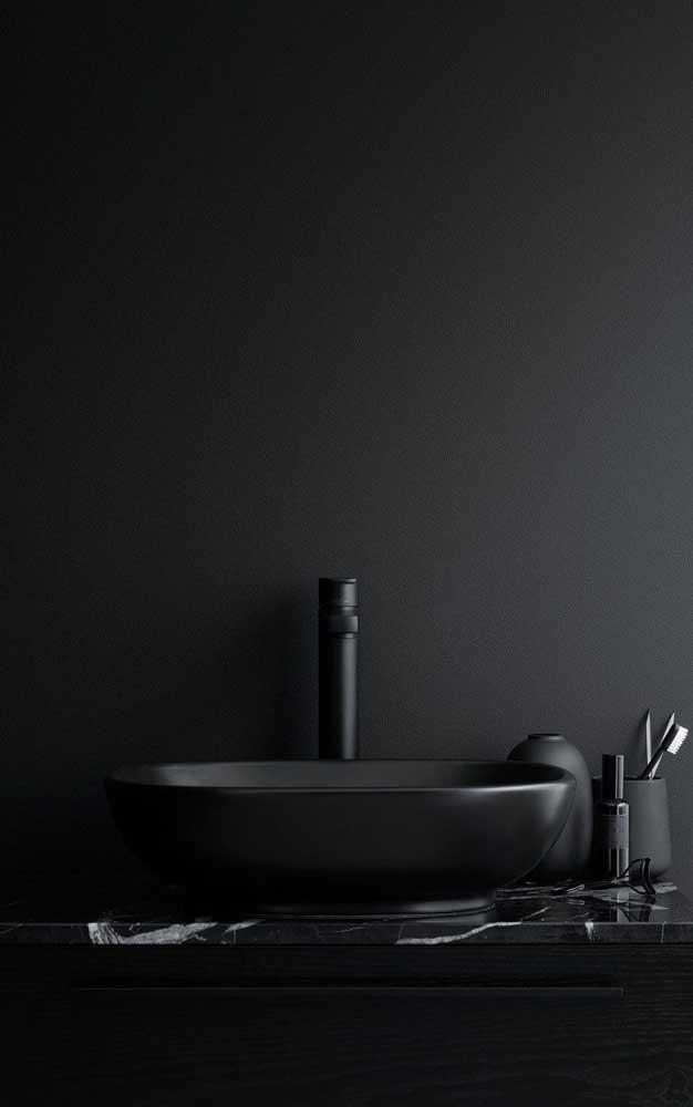 A cuba para banheiro preta é perfeita para ambientes mais modernos.