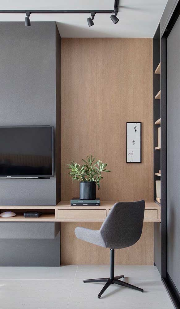 Que tal fazer uma escrivaninha planejada para quarto de acordo com o espaço escolhido para ela?