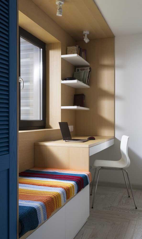 A escrivaninha de canto para quarto pode ser a opção perfeita para o espaço escolhido.