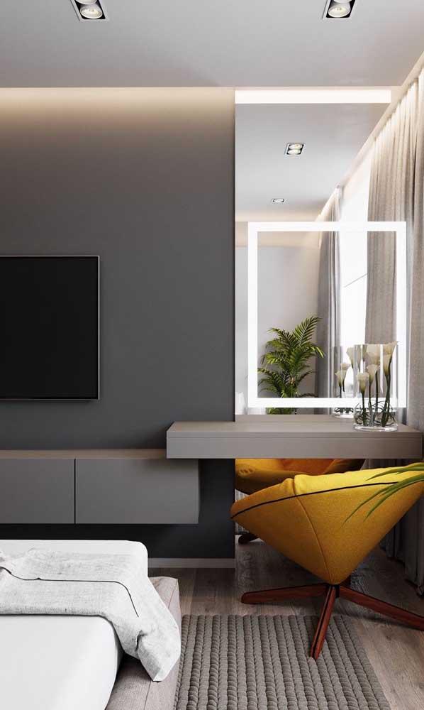 Olha que escrivaninha de vidro para quarto mais elegante e sofisticada.