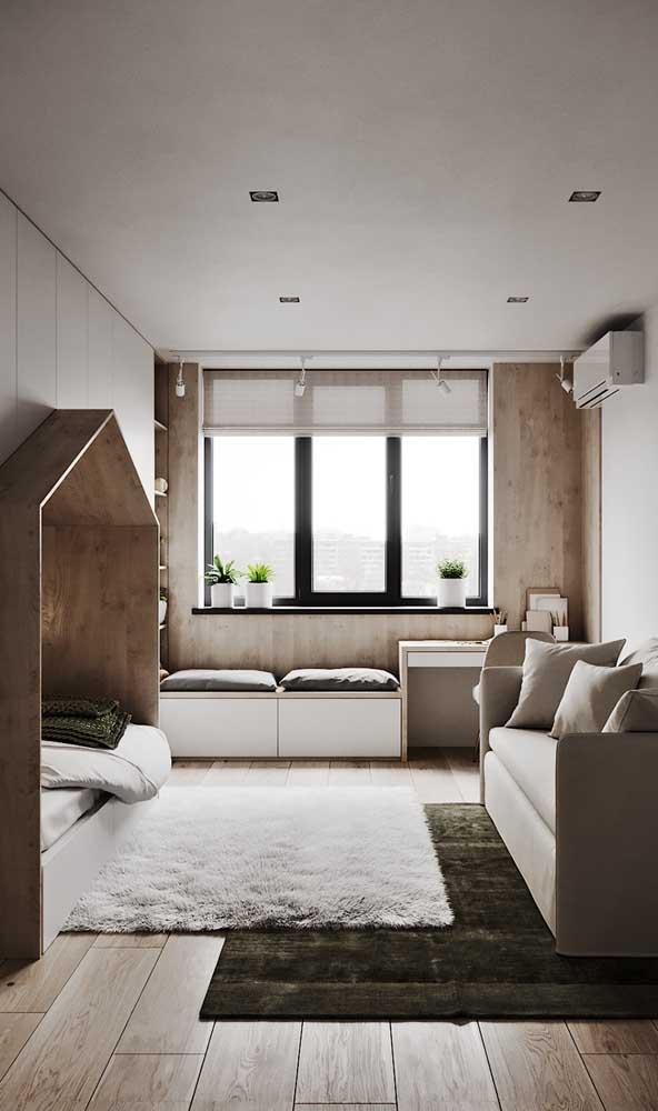 Deixe um espaço reservado no seu quarto para colocar sua escrivaninha.