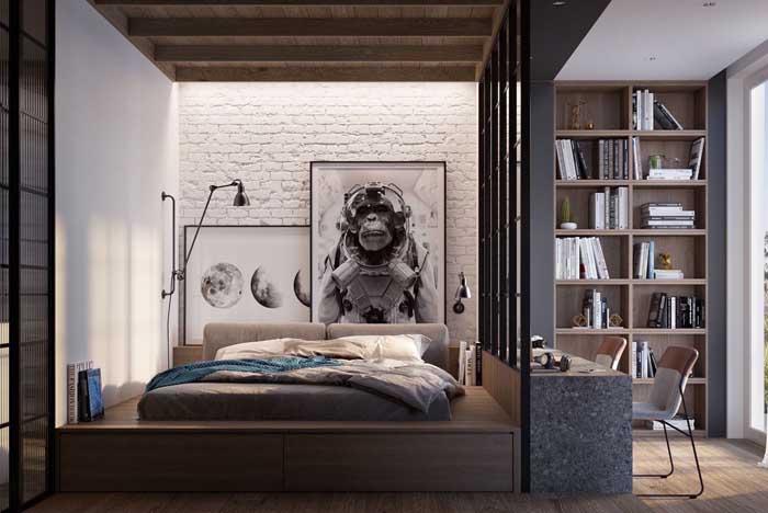 Olha que decoração mais diferenciada para quarto de menino.
