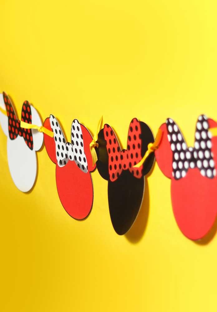 Olha como você pode decorar a festa da Minnie simples.