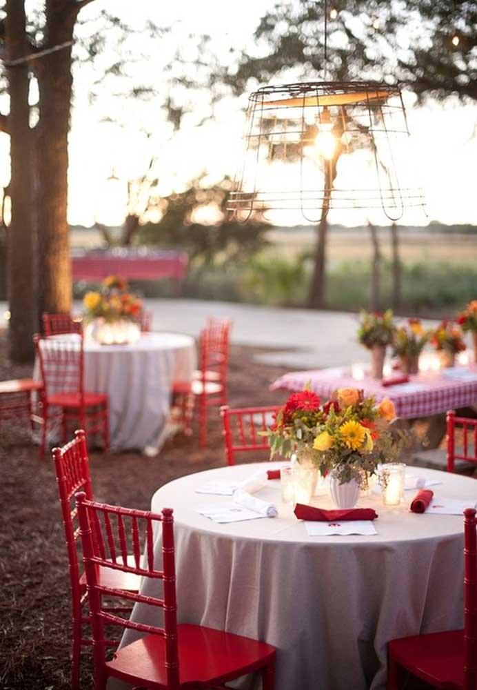 O local ao ar livre é o mais indicado para fazer um aniversário fazendinha.