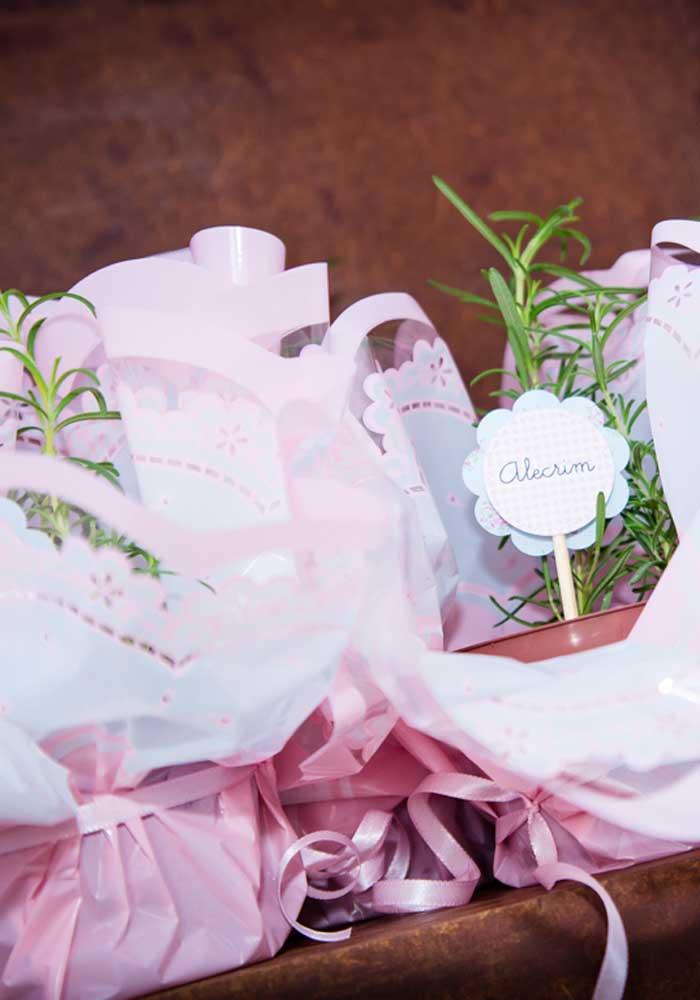 O que acha de presentear os convidados com uma muda de planta?
