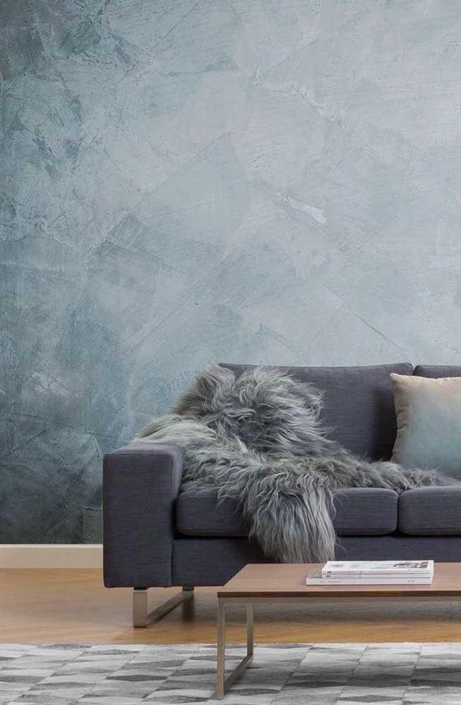 Olha que efeito marmorato incrível para fazer na parede da sua sala.