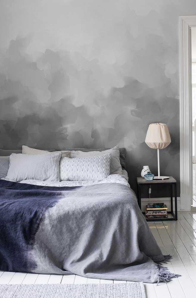 Que tal usar vários tons diferentes ao aplicar o marmorato na parede?