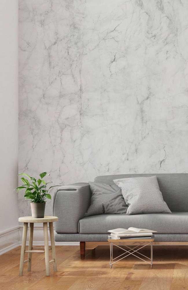 O marmorato cinza é perfeito para quem deseja ter um ambiente mais sóbrio.