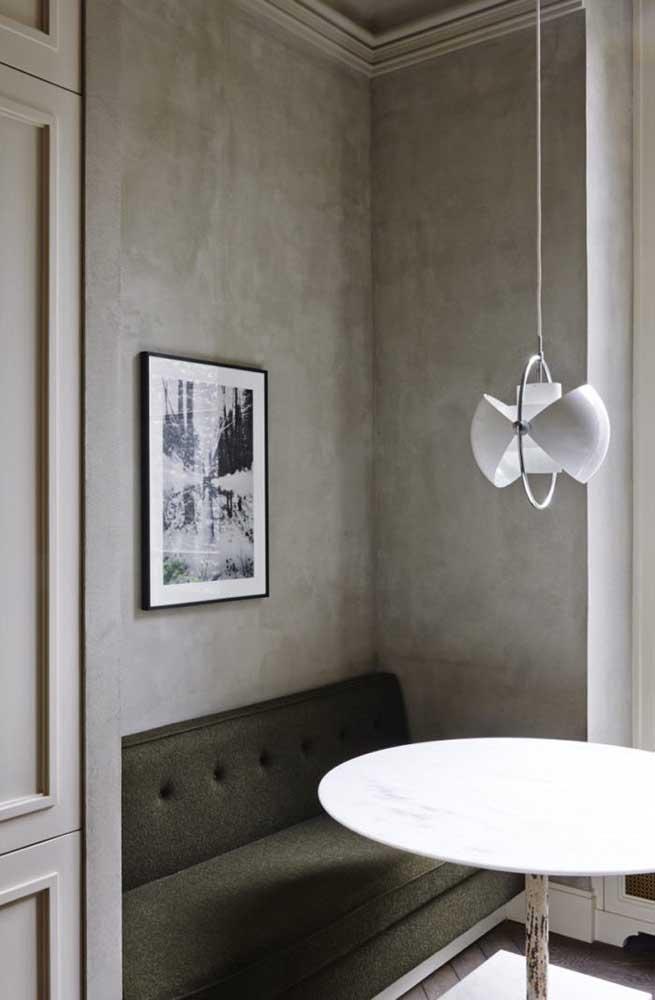 O ideal é escolher o tom do marmorato de acordo com a decoração da casa.