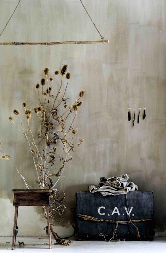 Cada vez mais pessoas estão se rendendo a uma decoração mais rústica e personalizada.