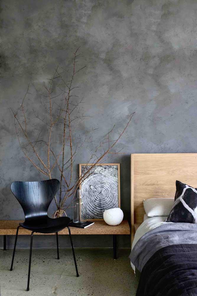 Se você gosta de ambientes mais escuros, pode escolher o marmorato preto.