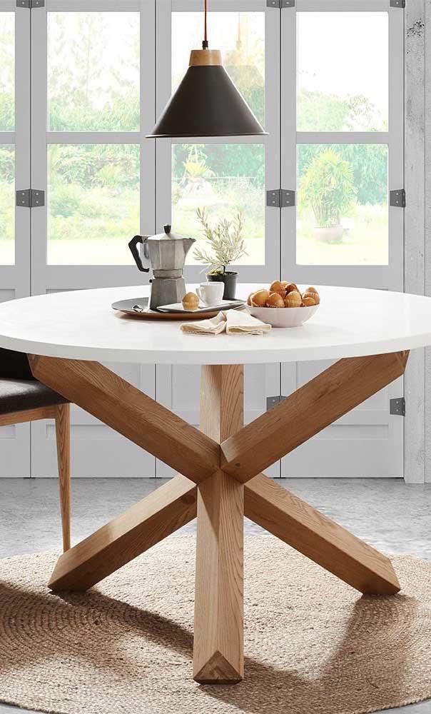 Você pode usar dois materiais diferentes na sua mesa.