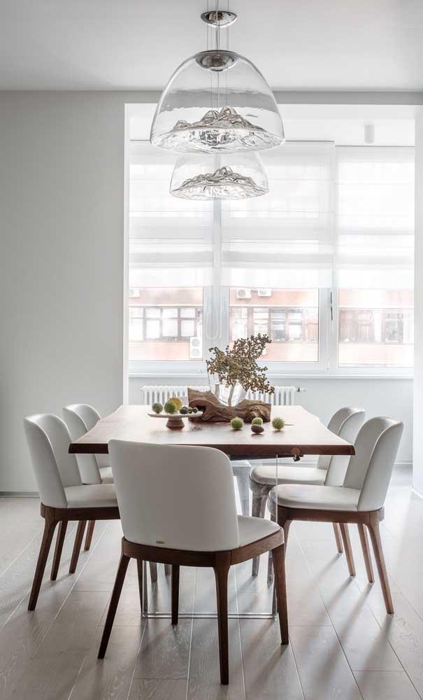 A cor branca ajuda a manter o ambiente mais clean.
