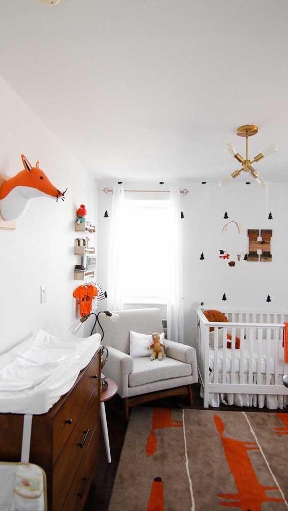 Faça uma decoração bem suave para o quarto do bebê.