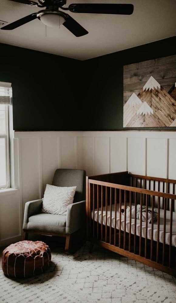 Se a decoração do quarto for mais escura, você pode escolher a poltrona mais clara.