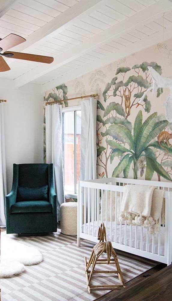A poltrona de amamentação se tornou uma peça muito importante na decoração do quarto do bebê.
