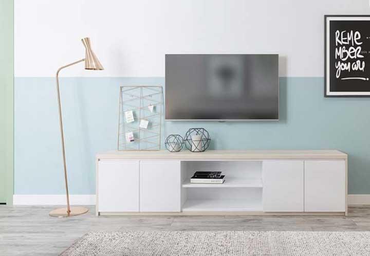 Escolha um lindo rack para sala de TV.