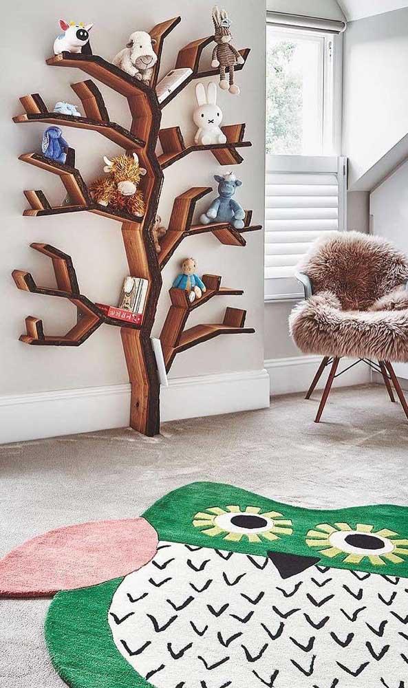 Veja que tapete de coruja gigante para decorar o quarto das crianças.