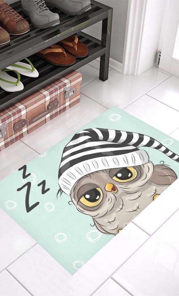 O tapete de coruja dorminhoca é um dos mais pedidos para decorar o quarto.
