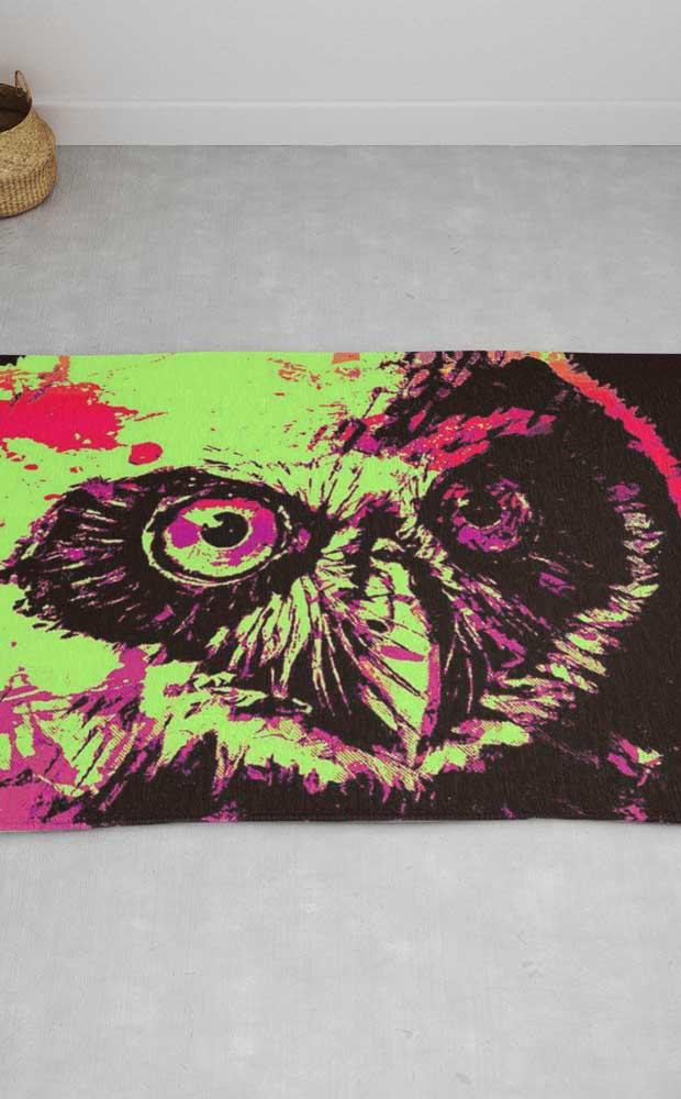 Olha que desenho perfeito da coruja para decorar um ambiente cheio de personalidade.
