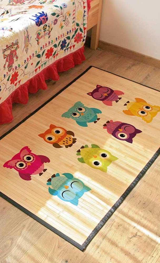 Já pensou no modelo de tapete de coruja para quarto? Que tal apostar nesse modelo?