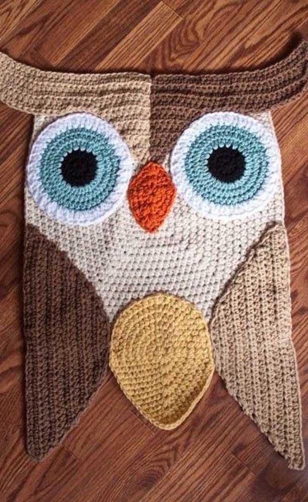 Faça um tapete de coruja diferenciado para decorar a sua residência.