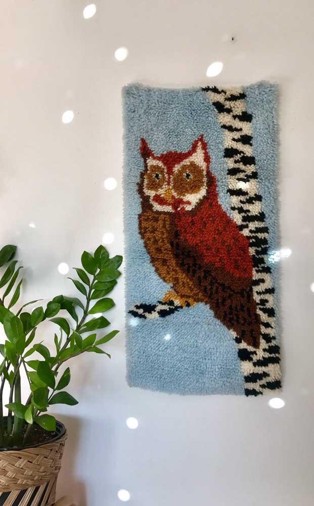Sabia que é possível fazer um tapete de coruja para a parede?