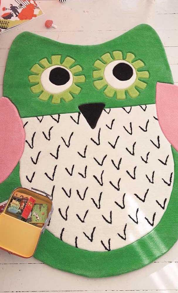 Experimente diferentes estilos de tapete de coruja.