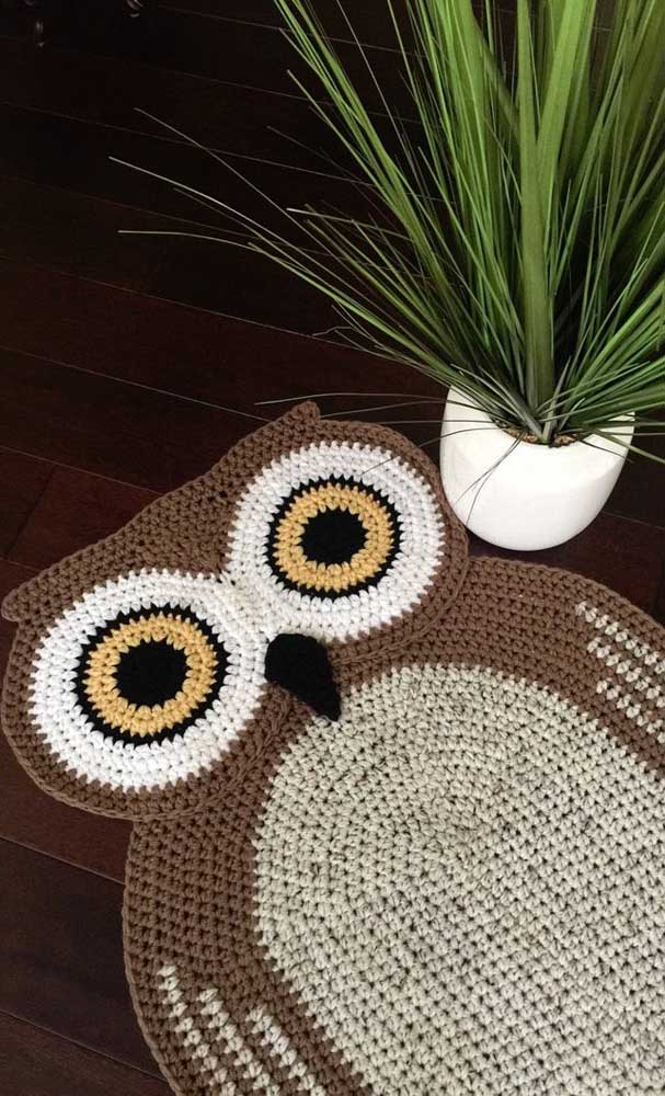 Você já pensou em decorar sua casa com tapete de coruja?