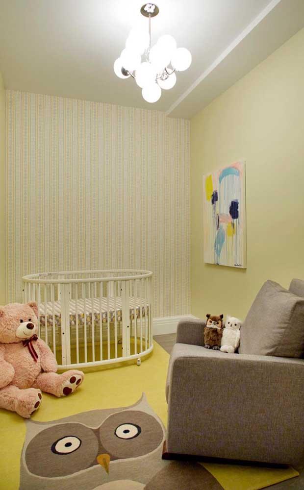 Que tapete de coruja gigante para combinar com a decoração.