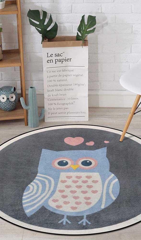 É impossível não se apaixonar pelo tapete de coruja.