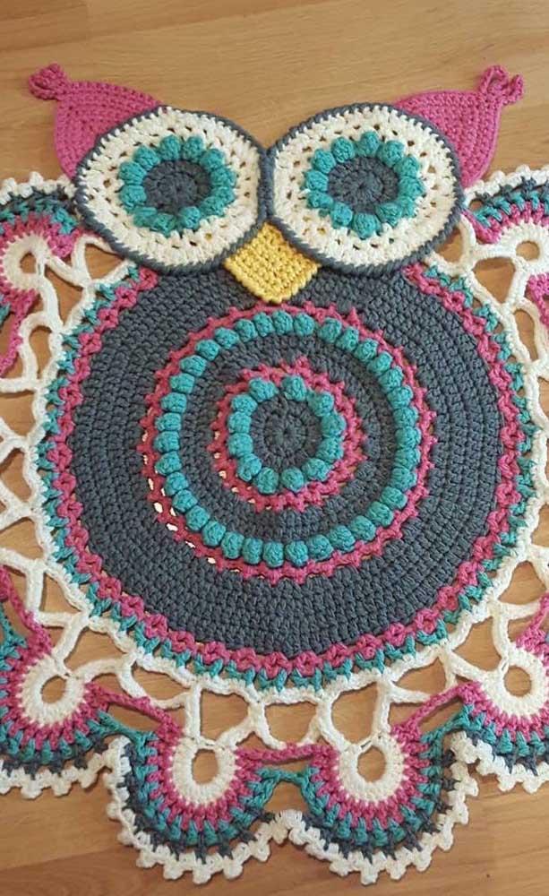Você consegue perceber que é uma coruja nesse tapete?