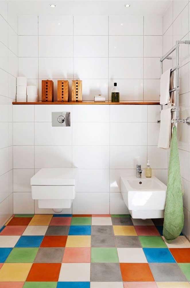 Ou com um piso diferenciado como esse.