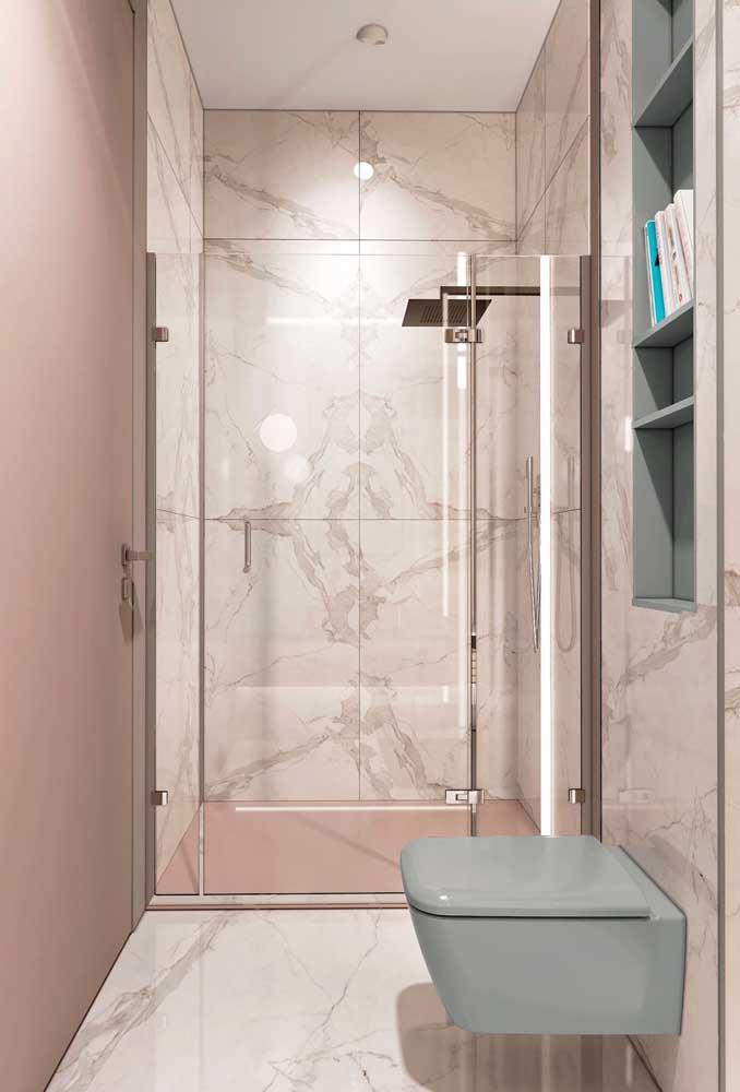Você pode apostar em estampas diferenciadas na hora de fazer o banheiro feminino.