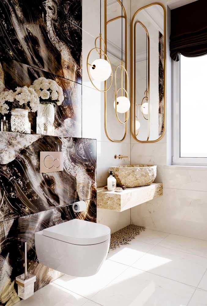 Veja que banheiro feminino sofisticado e elegante para você se inspirar.
