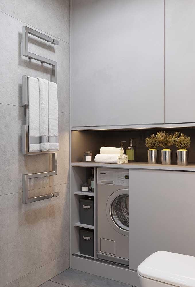 O mais bacana é que você pode usar a cor cinza em diferentes ambientes da casa.