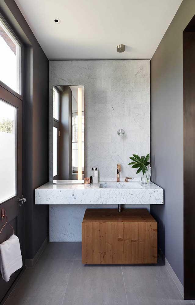 Outra opção de piso cinza para você se inspirar.