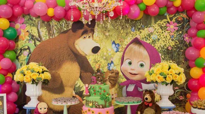Festa Masha e o Urso: como fazer, personagens, dicas e fotos