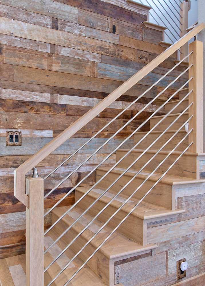 Você pode usar diferentes tipos de madeira.