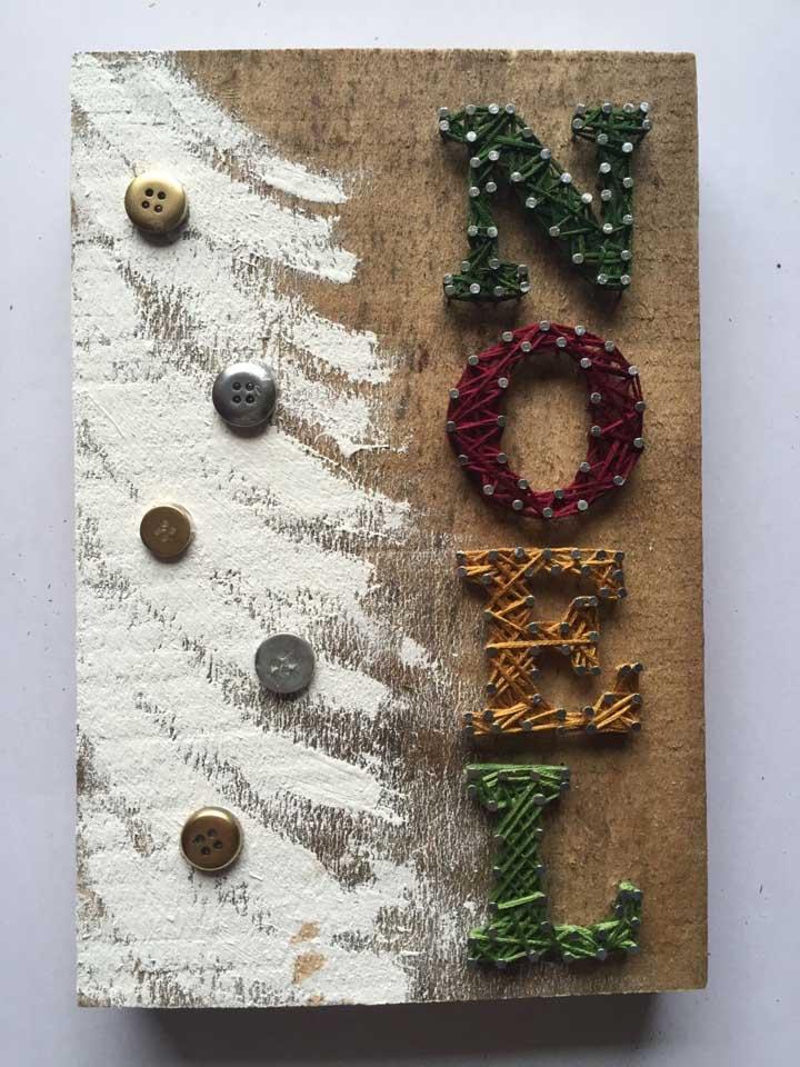 Na hora de fazer o painel de natal use materiais simples, mas que fazem uma diferença enorme.