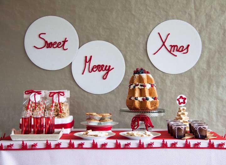 Ou quem sabe apenas fixar frases natalinas na parede?