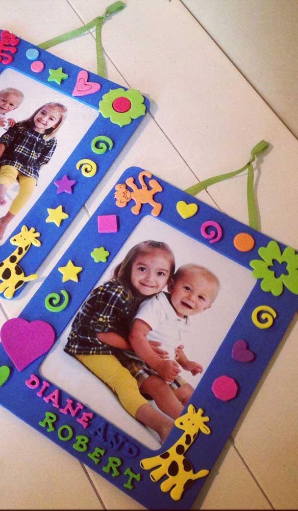 Escolha um porta retrato significativo para seus filhos.