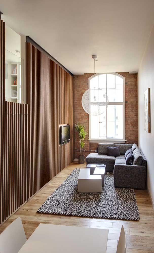 Uma sala de TV decorada valoriza demais o ambiente.