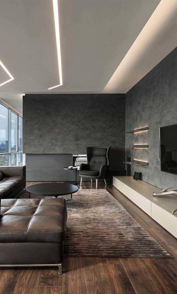 Quer uma sala de TV moderna, fina e elegante?