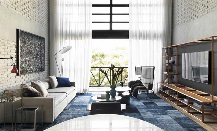 Escolha um tapete que combine perfeitamente com o restante da decoração.