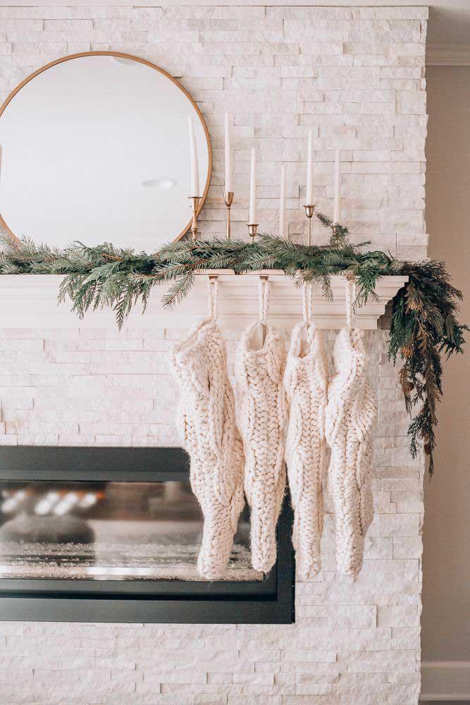 As meias não podem faltar na decoração de natal.