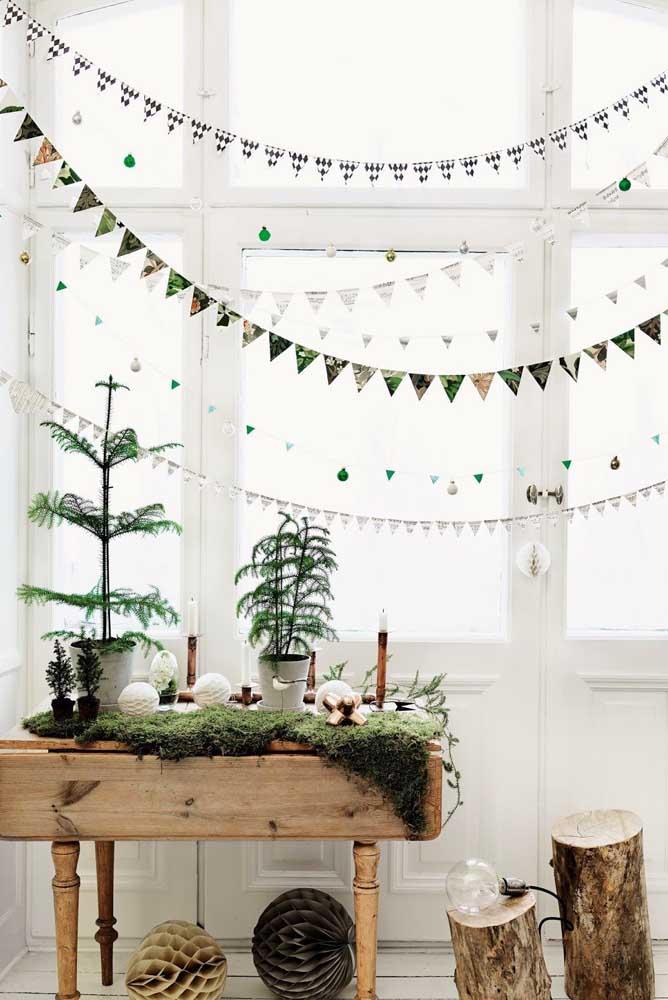 Que tal apostar em uma decoração mais rústica neste natal?