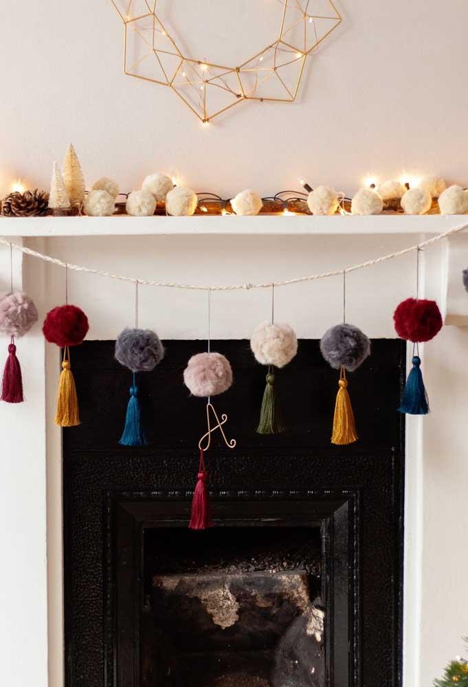 A casa merece ser bem decorada para receber o natal.