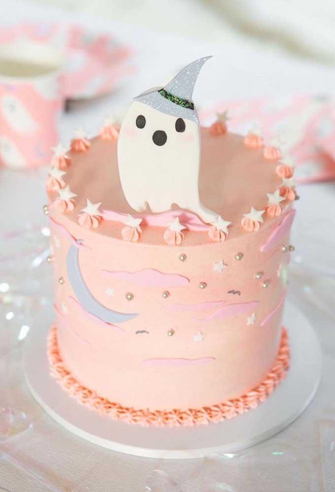 Mas há a opção de fazer algo mais delicado, feminino e singelo para comemorar o halloween.